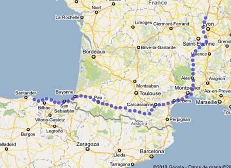 De Francia a Espaa en bicicleta  NO SIN MI BICI