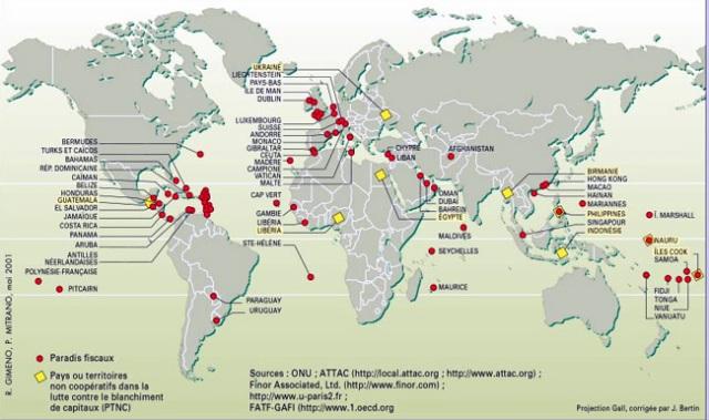 Resultado de imagen de LA OLIGARQUÍA MUNDIAL HA EVADIDO MÁS DE 7 BILLONES DE DÓLARES A PARAÍSOS FISCALES