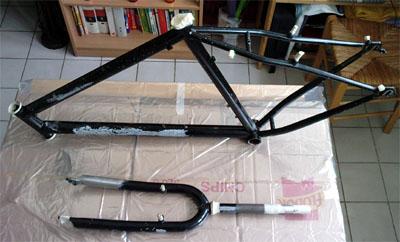 pintar bici - preparacion cuadro